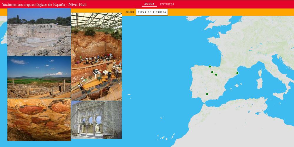 Sítios arqueológicos da Espanha - Nível Fácil