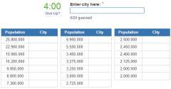 Biggest cities in India (JetPunk)