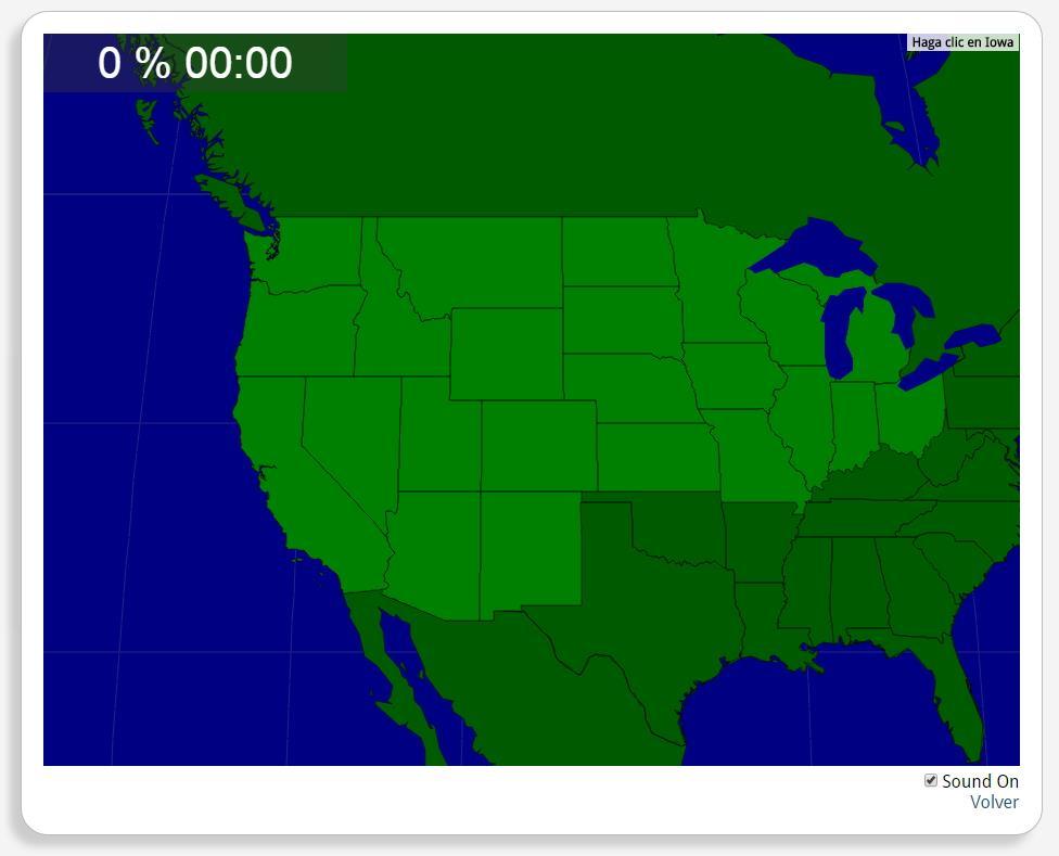 Estados Unidos: Estados del Medio Oeste y del Oeste. Seterra