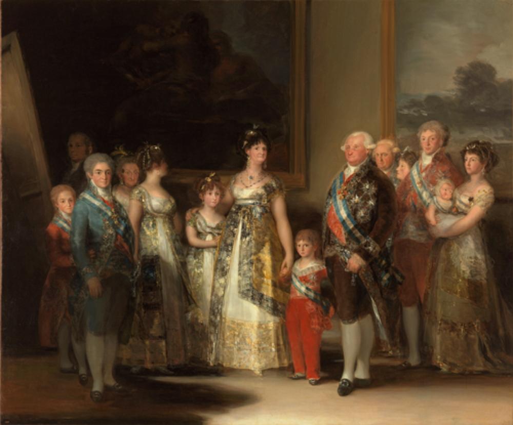 La familia de Carlos IV, 1800
