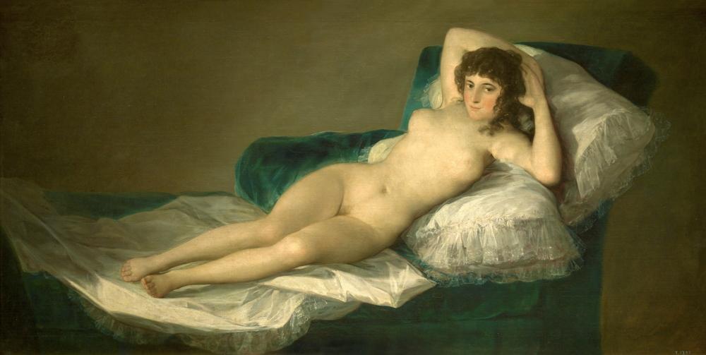 La maja desnuda, antes de 1800