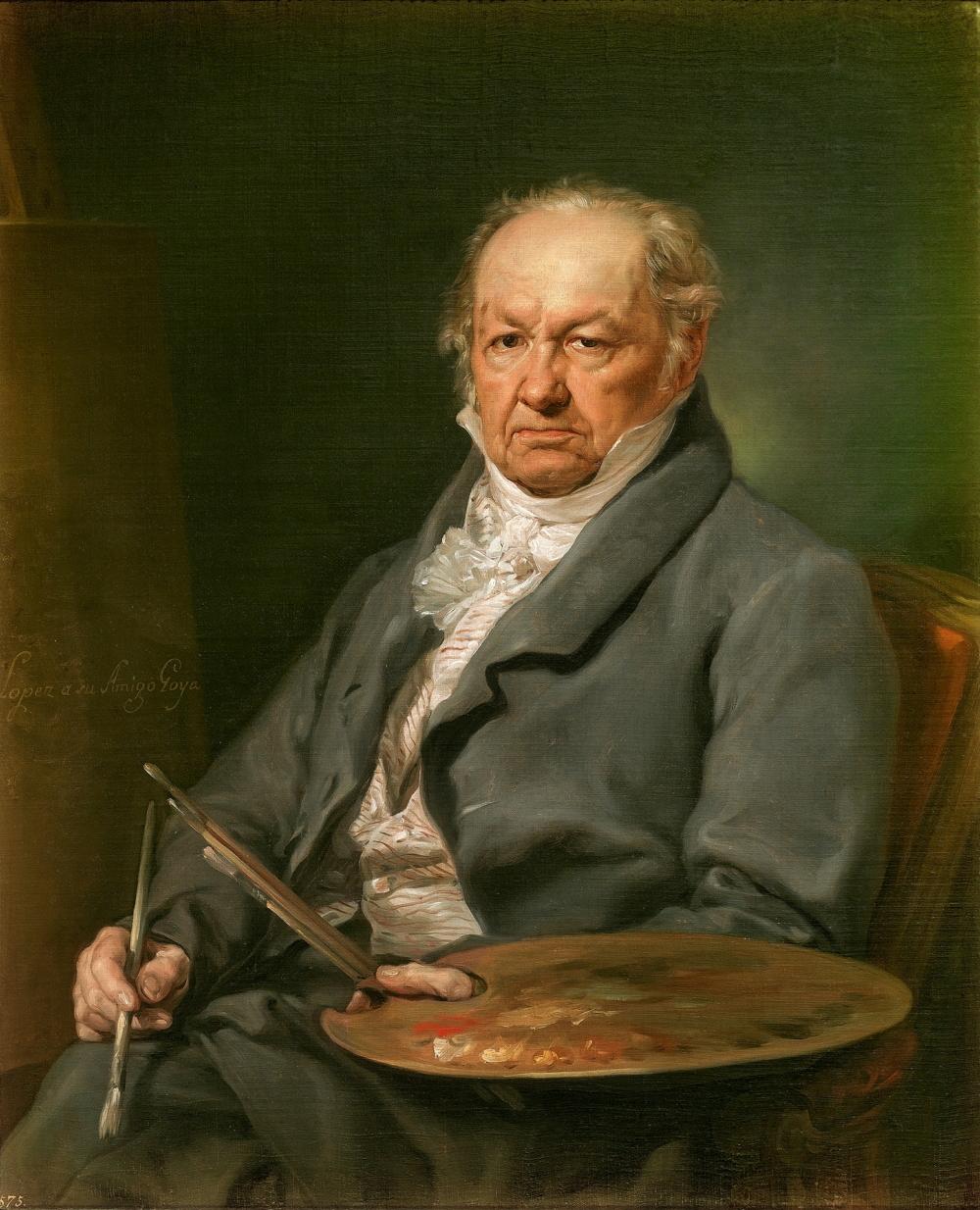 El pintor Francisco de Goya, 1826, Vicente López Portaña