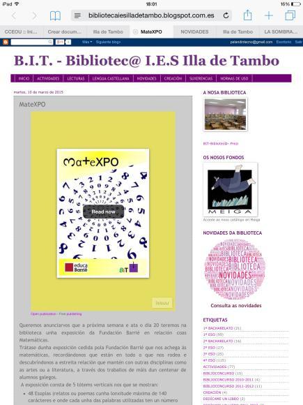 B.I.T. Bibliotec@I.E.S Illa de Tambo