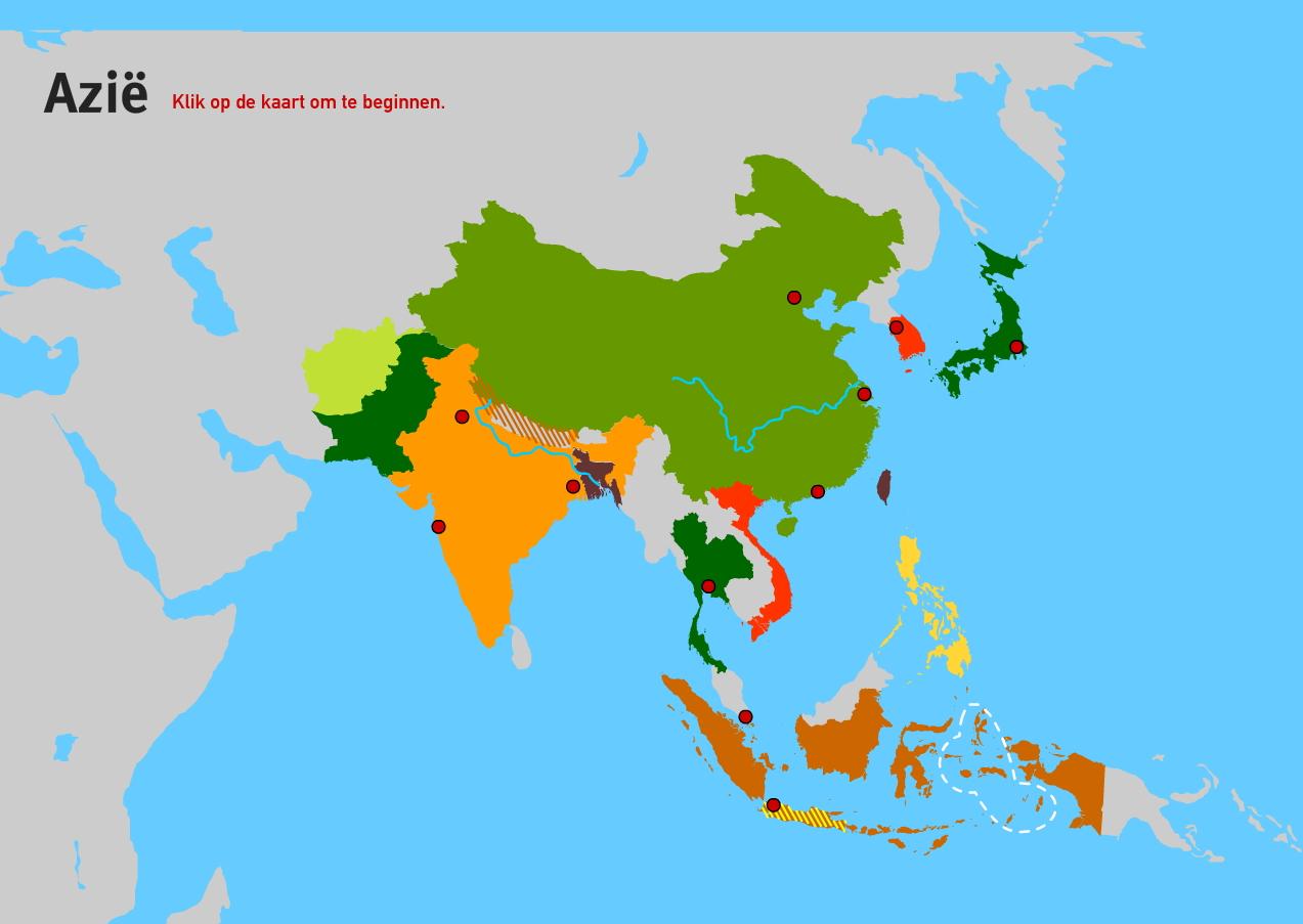 Azië. Topo VMBO