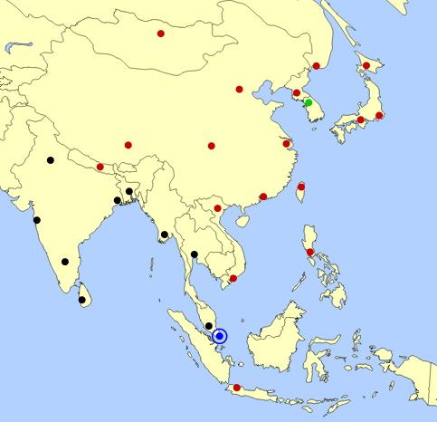 East Asia cities map  (JetPunk)