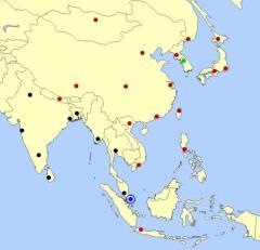 East Asia cities map  (JetPunk)