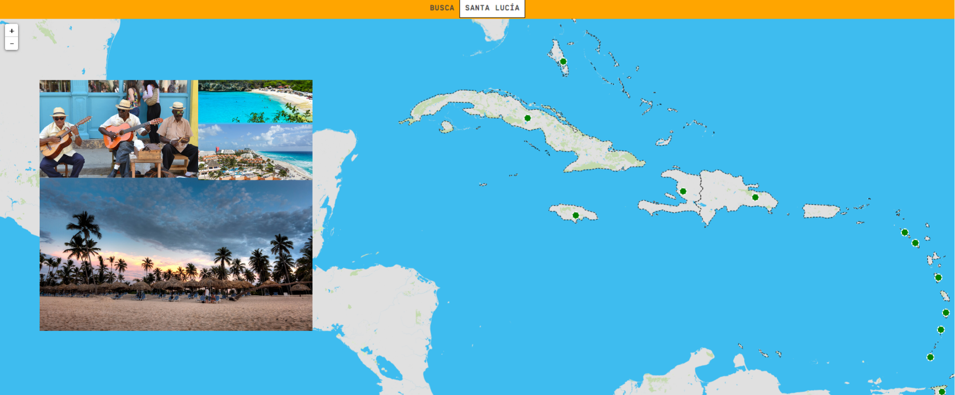 O Caribe: países