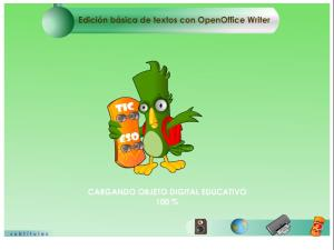 Edición básica de textos con OpenOffice Writer.