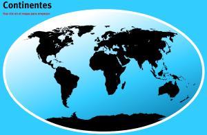 Continentes del Mundo. Juegos de Geografía