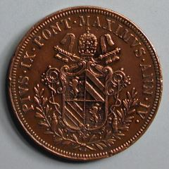 Moneda pontificia, 5 baiocchi