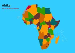 Länder der Afrika. Welt-Quiz Geographie