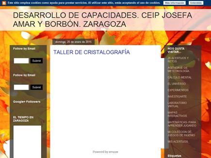DESARROLLO DE CAPACIDADES. CEIP JOSEFA AMAR Y BORBÓN. ZARAGOZA