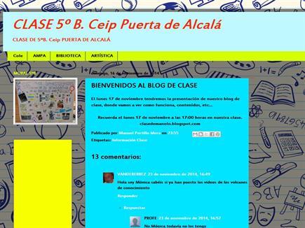 CLASE 5ºB.Ceip Puerta de Alcalá