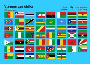 Vlaggen van Afrika. Topo Wereld