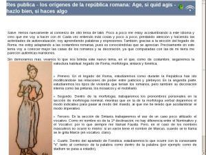 Los orígenes de Roma: Factum abiit, monumenta manent. El urbanismo: edificios públicos