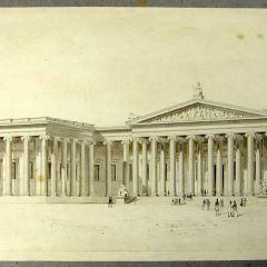Fachada del Museo Británico, Londres (Inglaterra)