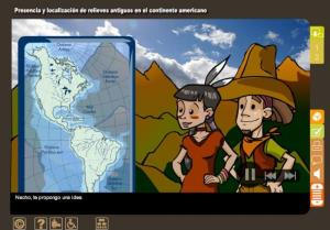 Presencia y localización de relieves antiguos en el continente americano