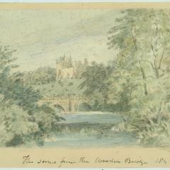 Vista del castillo de Alnwick (Inglaterra)