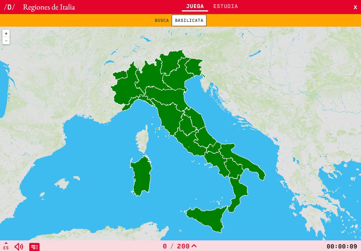 Mapa Para Jugar Donde Esta Regiones De Italia Mapas