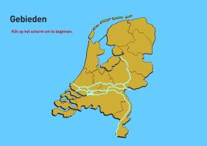 Gebieden van Nederland. Topo VMBO