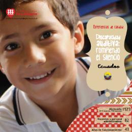 La discapacidad: una nueva mirada, una nueva pedagogía (Ecuador)