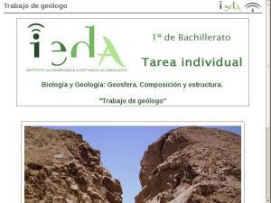 Trabajo de geólogo