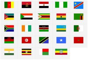 Banderas de África. Seterra