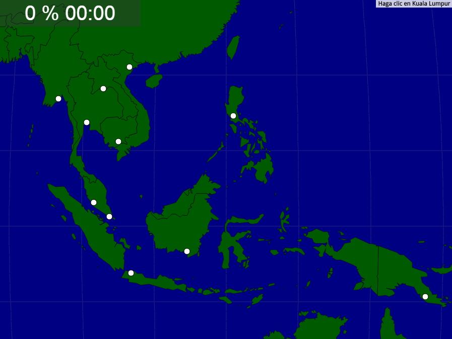 Ciudades de Asia Sudoriental. Seterra