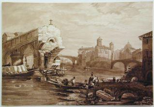El Ponte Rotto sobre el Tíber, Roma