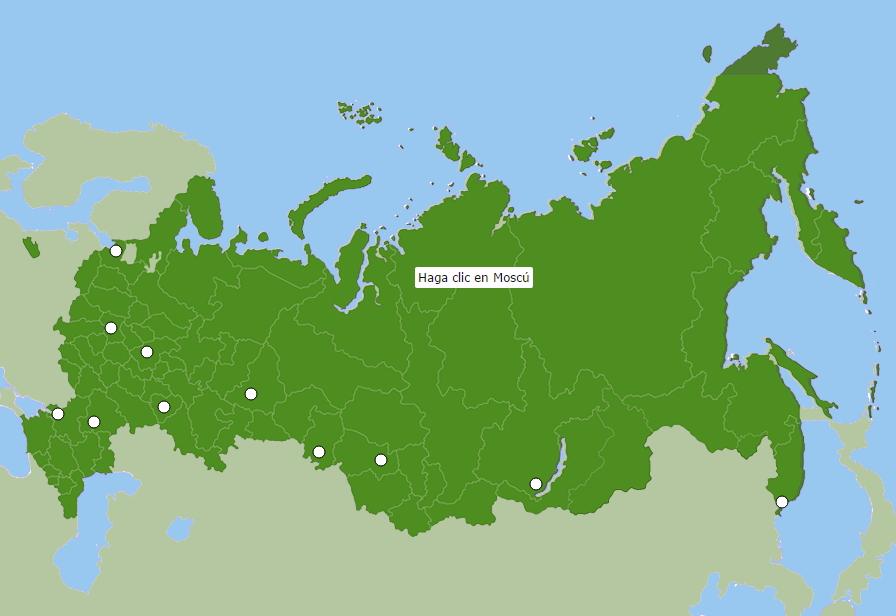 Ciudades de Rusia. Seterra