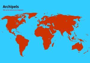 Archipels van Wereld. Topo Wereld