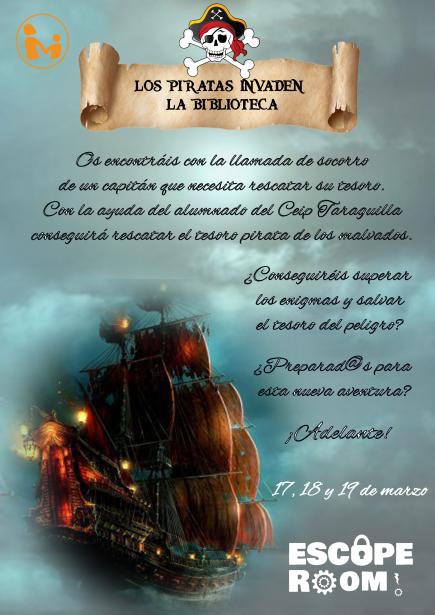 """ESCAPE ROOM """"¡Los piratas invaden nuestra biblioteca!"""""""