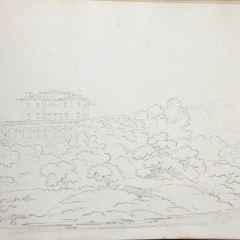 Vista de la Villa Medici, Poggio a Caiano (Italia)