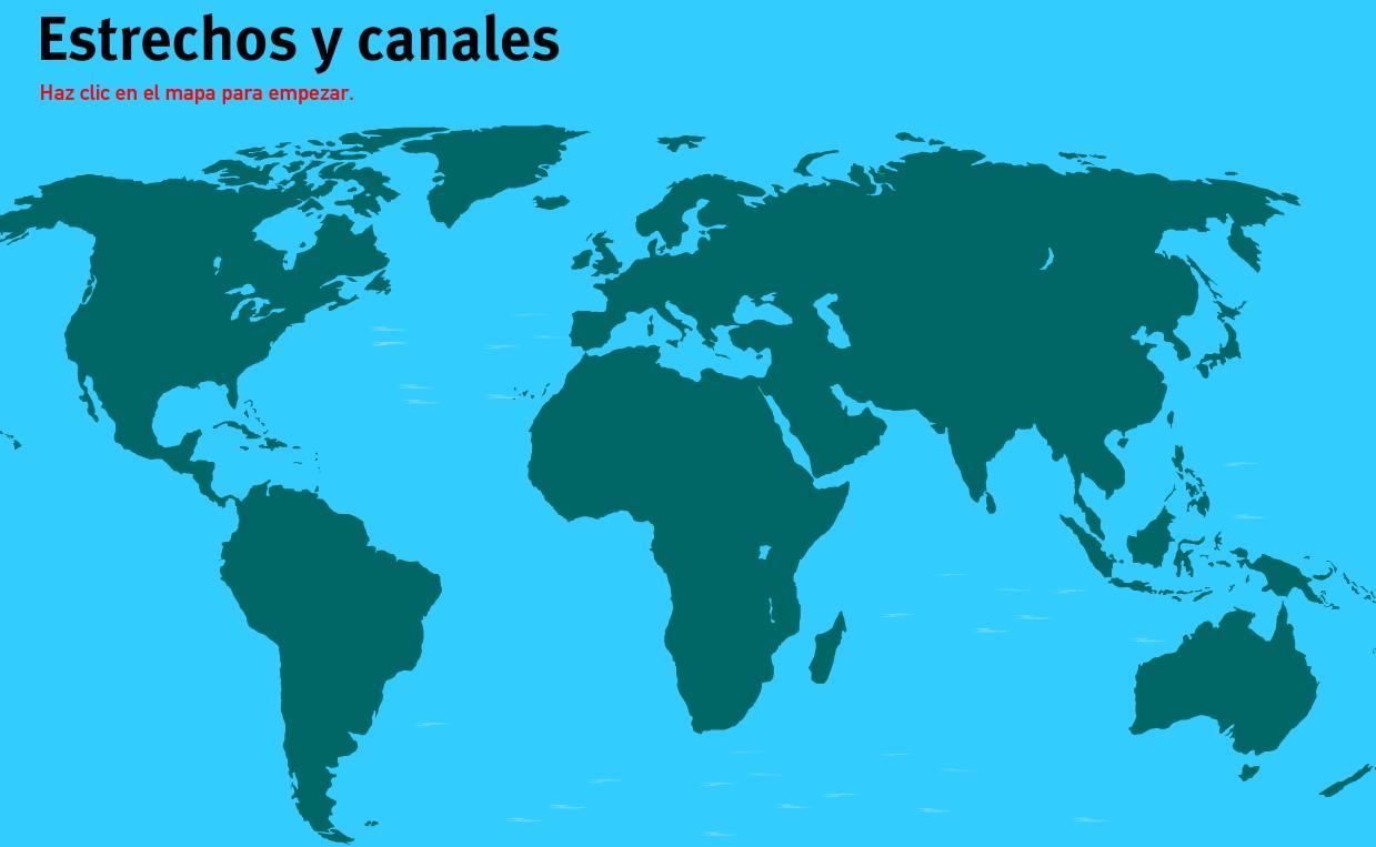 Mapa Interactivo Del Mundo Estrechos Y Canales Del Mundo Juegos De Geografía Mapas Interactivos
