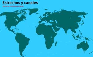 Estrechos y canales del Mundo. Juegos de Geografía
