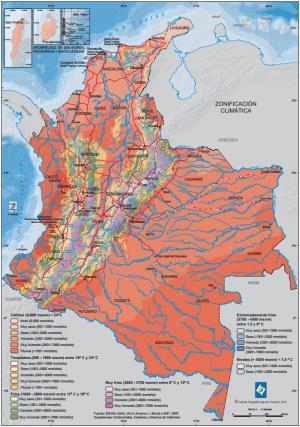 Mapa climático de Colombia. IGAC