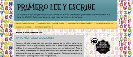 PRIMERO LEE Y ESCRIBE