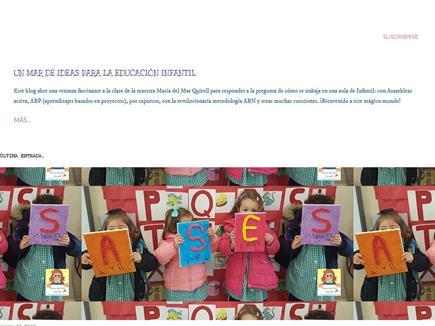 """""""UN MAR DE IDEAS PARA LA EDUCACIÓN INFANTIL"""""""