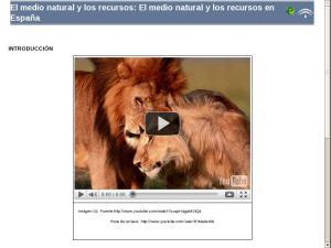 El medio natural y los recursos: El medio natural y los recursos en España
