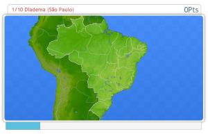 Cities of Brazil.Geography map games