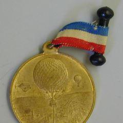 Medalla conmemorativa de la ascensión en globo de Louis Godard
