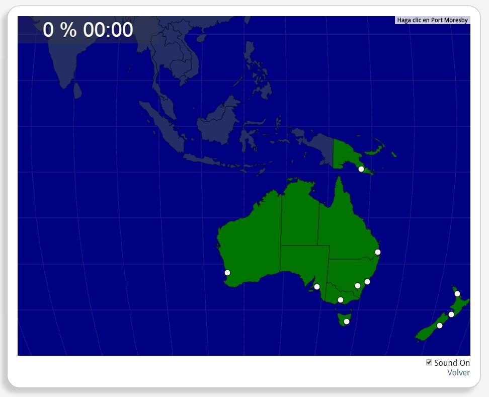 Australia e Nuova Zelanda: Città. Seterra