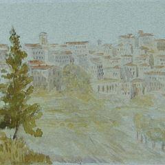 Vista de Perugia (Italia)