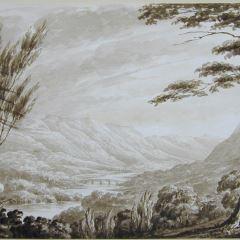 El puente de Dunkeld desde Craggy Vinian (Escocia)