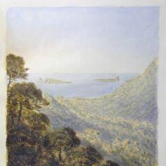 Vista de las islas St Marguerite y St Honorat (Francia)