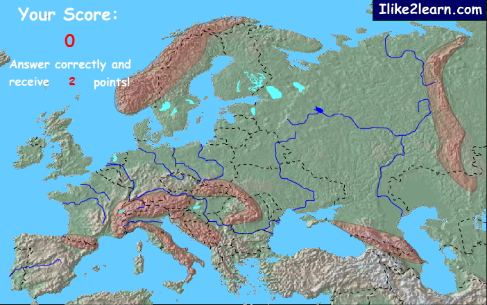Mountain ranges of Europe. Ilike2learn
