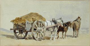 Carro cargado de heno