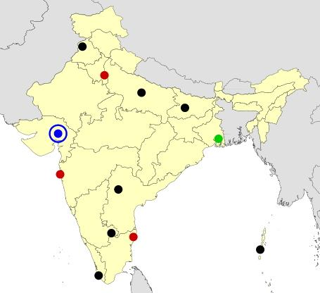 India cities map  (JetPunk)