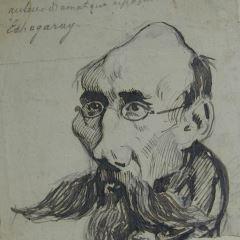 Caricatura de José de Echegaray
