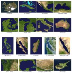 Satellite images of world territories (JetPunk)